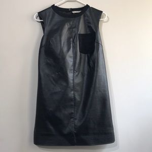 Rachel Roy Faux Leather Dress with Pockets